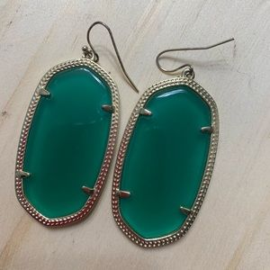 Kendra Scott Emerald earrings